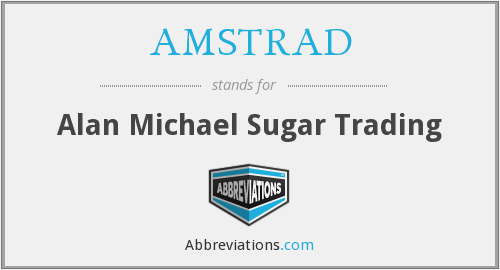 What does AMSTRAD stand for?
