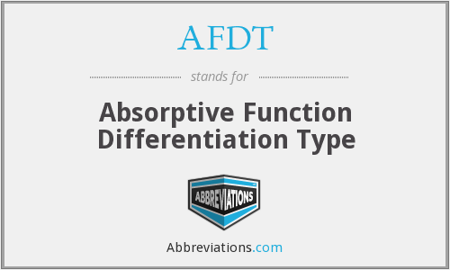AFDT - Absorptive Function Differentiation Type