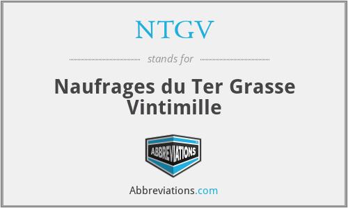 NTGV - Naufrages du Ter Grasse Vintimille