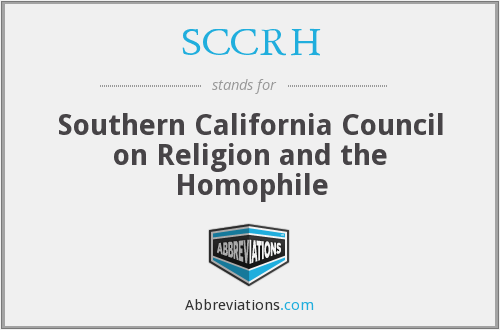 What does SCCRH stand for?