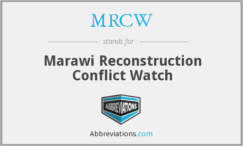 MRCW - Marawi Reconstruction Conflict Watch