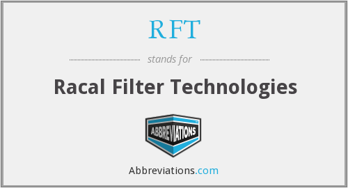RFT - Racal Filter Technologies