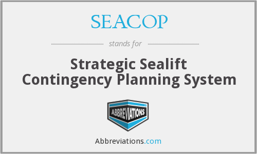 SEACOP - Strategic Sealift Contingency Planning System