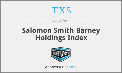 TXS - Salomon Smith Barney Holdings Index