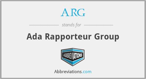 ARG - Ada Rapporteur Group