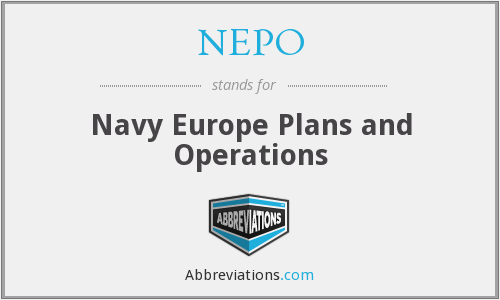 NEPO - Navy Europe Plans and Operations