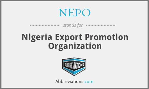 NEPO - Nigeria Export Promotion Organization