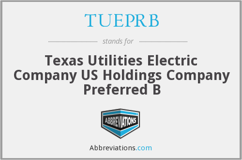 What does TUEPRB stand for?