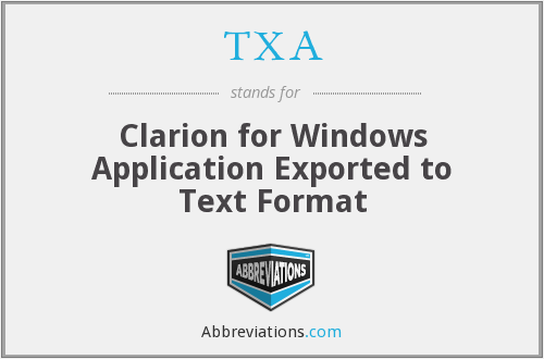 TXA - Clarion for Windows Application Exported to Text Format