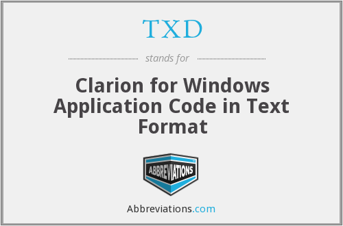 TXD - Clarion for Windows Application Code in Text Format
