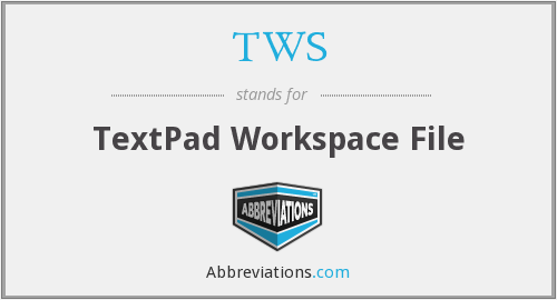 TWS - TextPad Workspace File