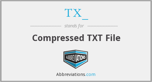 TX_ - Compressed TXT File