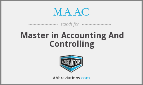 MAAC - Master in Accounting And Controlling