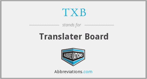 TXB - Translater Board