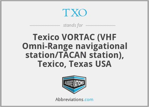 TXO - Texico VORTAC (VHF Omni-Range navigational station/TACAN station), Texico, Texas USA