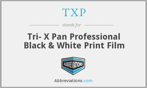 TXP - Tri- X Pan Professional Black & White Print Film