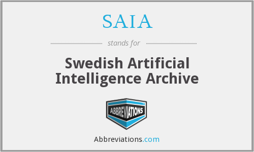 SAIA - Swedish Artificial Intelligence Archive