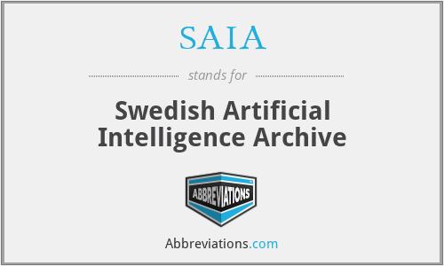 SAIA - Swedish Artificial Intelligence Archive