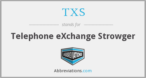 TXS - Telephone eXchange Strowger