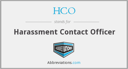 HCO - Harassment Contact Officer