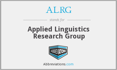 ALRG - Applied Linguistics Research Group