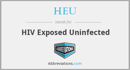 What does uninfected stand for?