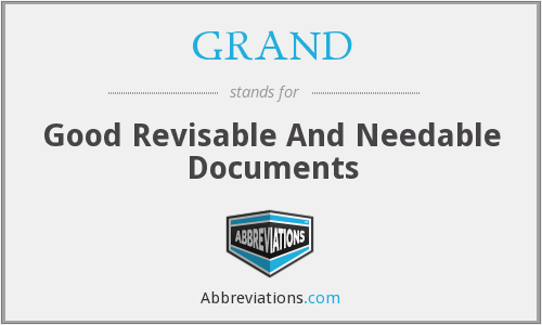 What does revisable stand for?