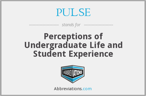 PULSE - Perceptions of Undergraduate Life and Student Experience