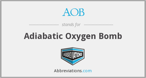 AOB - Adiabatic Oxygen Bomb