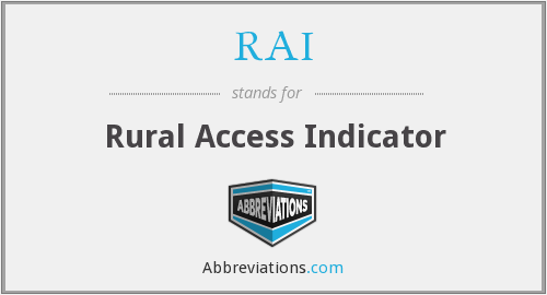 RAI - Rural Access Indicator