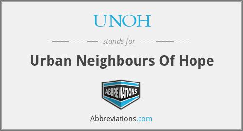 UNOH - Urban Neighbours Of Hope