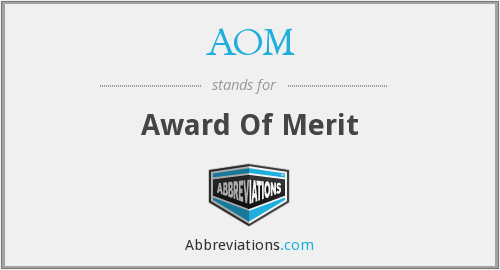 AOM - Award Of Merit