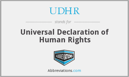 What does UDHR stand for?