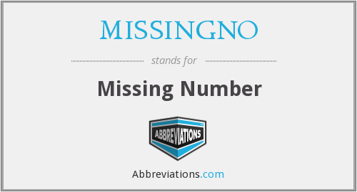 What does MISSINGNO stand for?