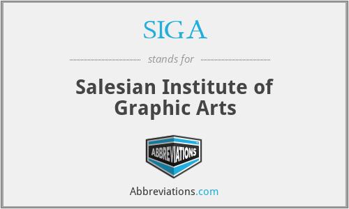 SIGA - Salesian Institute of Graphic Arts