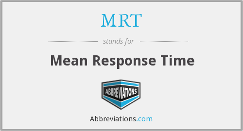 MRT - Mean Response Time