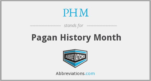 PHM - Pagan History Month