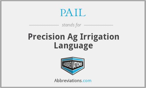 PAIL - Precision Ag Irrigation Language