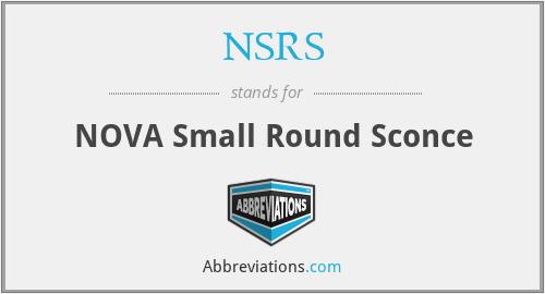 NSRS - NOVA Small Round Sconce