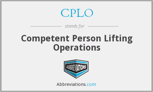 What does CPLO stand for?