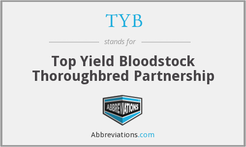 TYB - Top Yield Bloodstock Thoroughbred Partnership