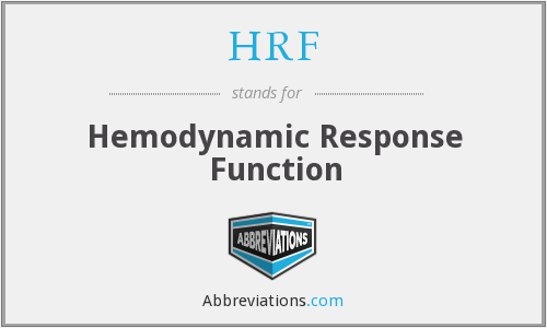 HRF - Hemodynamic Response Function
