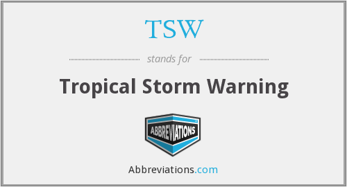 TSW - Tropical Storm Warning