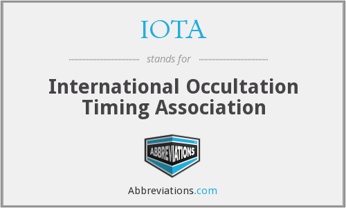 IOTA - International Occultation Timing Association