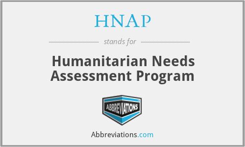 HNAP - Humanitarian Needs Assessment Program
