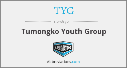 TYG - Tumongko Youth Group