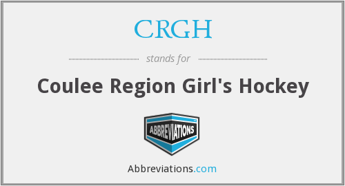 CRGH - Coulee Region Girl's Hockey