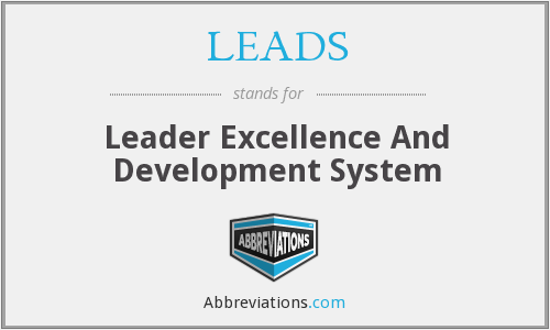 LEADS - Leader Excellence And Development System
