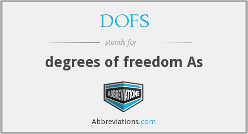 DOFS - degrees of freedom As