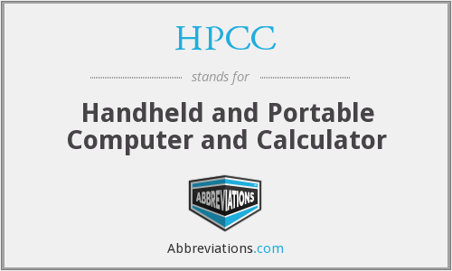 HPCC - Handheld and Portable Computer and Calculator